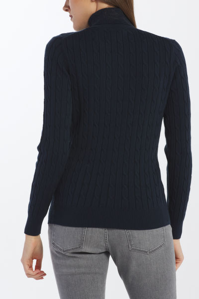 SVETR GANT STRETCH COTTON CABLE TURTLE NECK