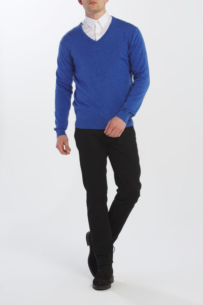 SVETR GANT LIGHT WEIGHT COTTON V-NECK