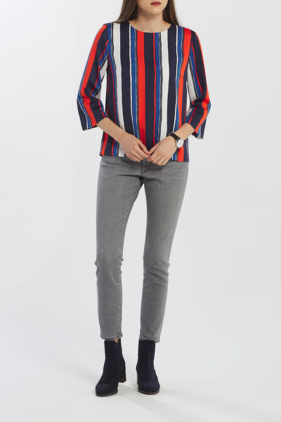 KOŠILE GANT D1. PREPPY STRIPE RELAXED TOP