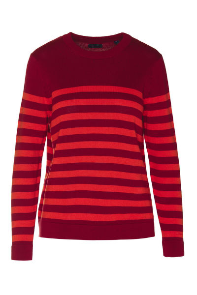 SVETR GANT D1. STRIPED COTTON CREW