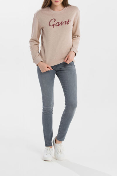 MIKINA GANT O2. CONTRAST BACKSIDE C-NECK SWEAT