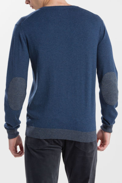 SVETR GANT O1. ELBOW PATCH CREW