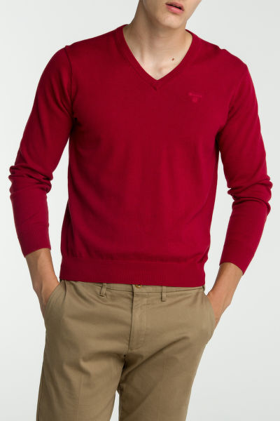 Svetr GANT LT. WEIGHT COTTON V-NECK