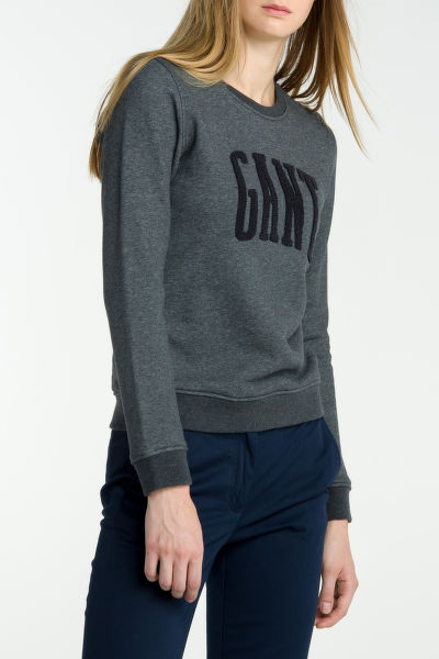 Mikina GANT O1. CHENILLE C-NECK SWEAT