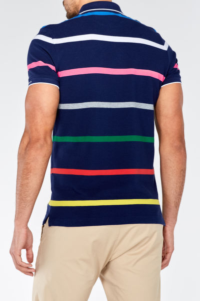 Polokošile MULTI STRIPE PIQUE SHORT SLEEVED RUGGER