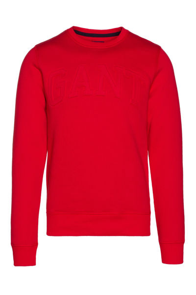 Mikina GANT EMBOSSED C-NECK SWEAT