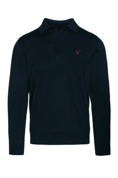 Svetr GANT O1.DOUBLE FACED KNIT POLO