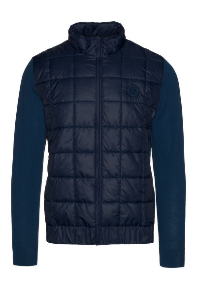 Bunda GANT O2. CHECK QUILTED KNIT JACKET