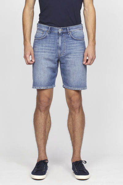 Šortky GANT O2. RELAXED LINEN DENIM SHORTS
