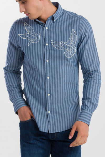 KOŠILE GANT R1. THE EMBROIDERED DOVES SLIM BD