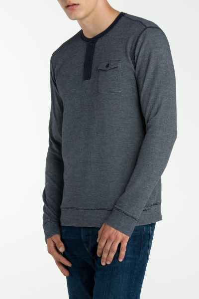 Tri?ko GANT O1. CHEST POCKET LS HENLEY