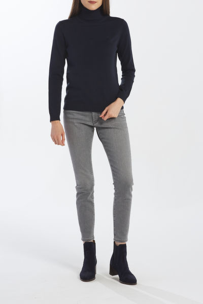 SVETR GANT LT WEIGHT COTTON TURTLE NECK