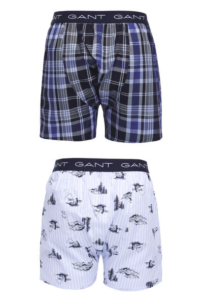 SPODNÍ PRÁDLO GANT 2-P BOX SHORTS FISHING PRINT/CHECK