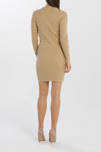 ?ATY GANT D1. STRETCH COTTON CABLE DRESS