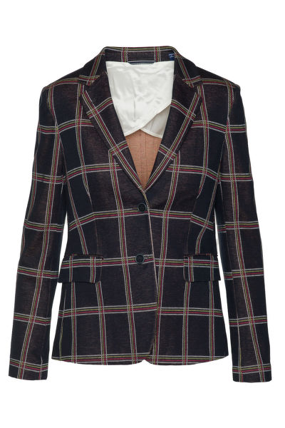 SAKO GANT O1. WINDOW CHECK JERSEY BLAZER
