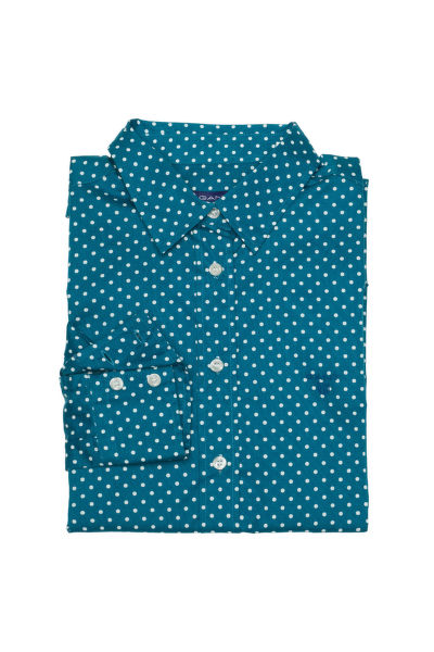 Košile GANT STRETCH BROADCLOTH DOT PRINT