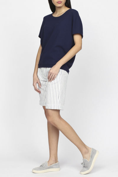 Top GANT O1. SMALL SQUARE PATTERN C-NECK TOP