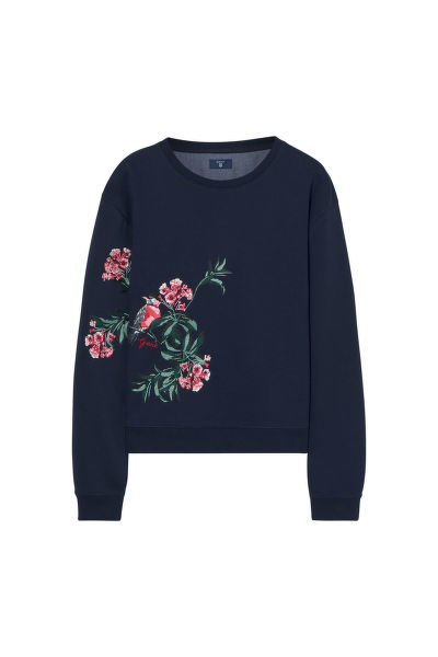 MIKINA GANT O. EMBROIDERED C-NECK SWEAT