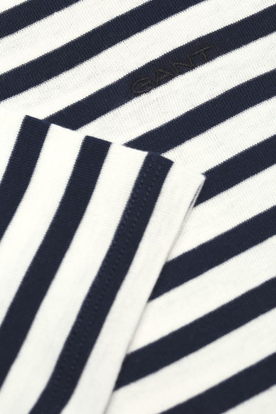 Tri?ko GANT O1. STRIPED 1x1 RIB SS T-SHIRT