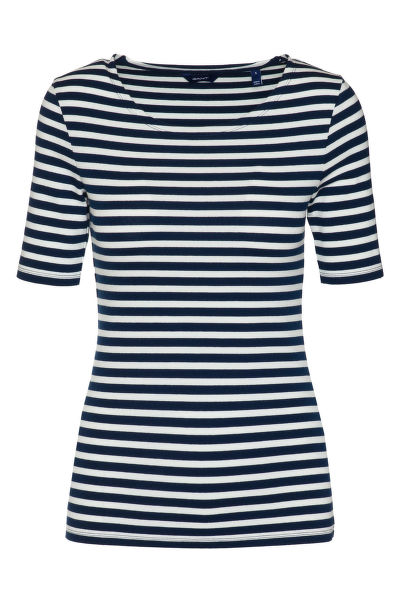 TRI?KO GANT STRIPED 1X1 RIB SS T-SHIRT
