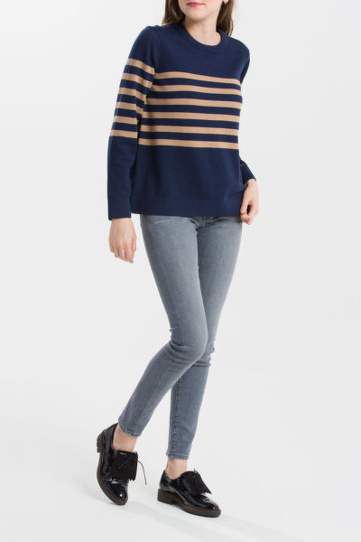 SVETR GANT O1. STRIPED COTTON CREW