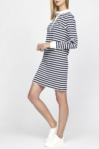 Šaty GANT O1. STRIPED HEAVY RUGGER DRESS