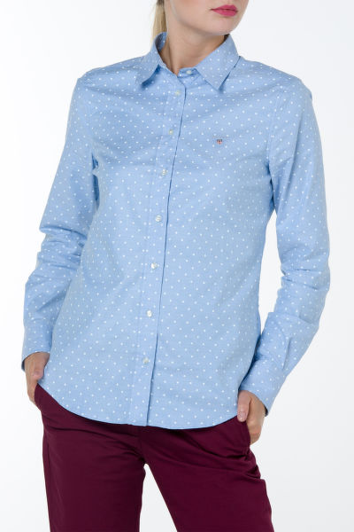 Košile GANT STRETCH OXFORD PRINT DOT SHIRT