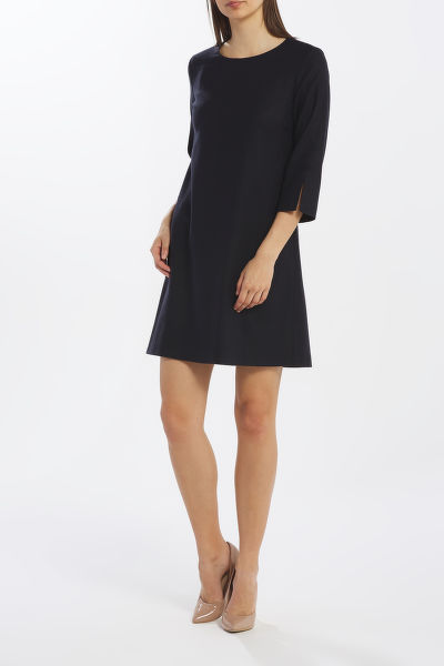 ?ATY GANT D1. WASHABLE STR WOOL A-LINE DRESS