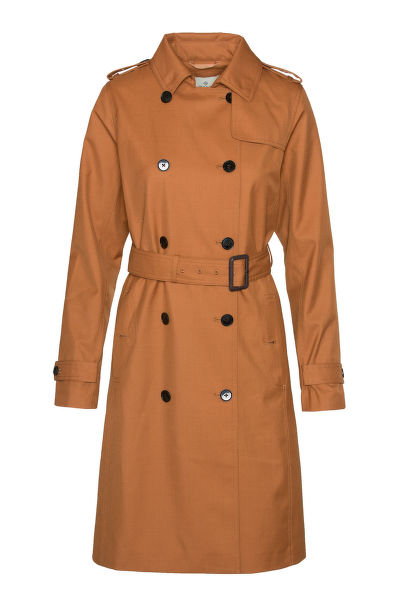 KABÁT GANT G1. TECHNICAL WOOL TRENCH
