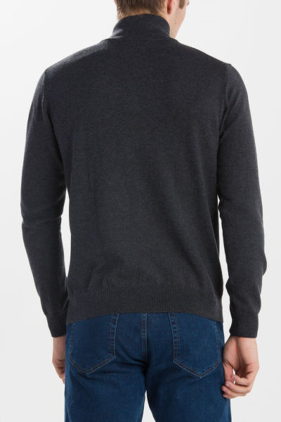 SVETR GANT COTTON WOOL ZIP
