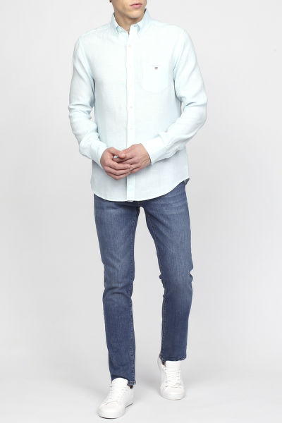 Košile GANT THE LINEN SHIRT REG BD