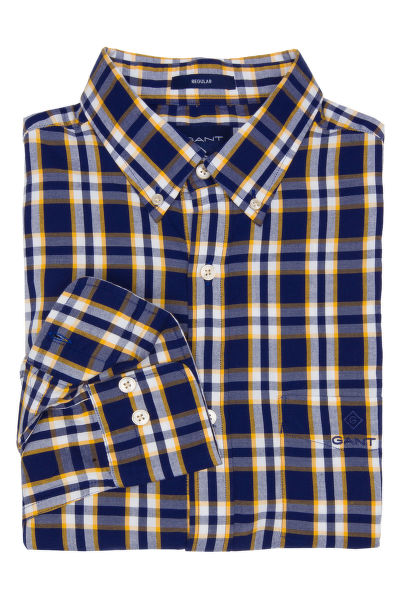 KOŠILE GANT O1. WINDBLOWN OXFORD PLAID SLIM BD