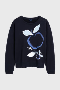 MIKINA GANT D1. AUTUMN PRINT C-NECK SWEAT