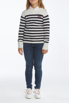 SVETR GANT D1. STRIPED BUTTONED CREW