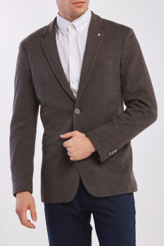 SAKO GANT D1. THE PATTERN JERSEY SUIT JKT