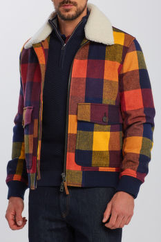 BUNDA GANT D2. WOOL CHECK FLIGHT JACKET