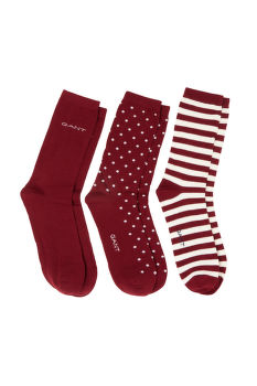 PONOŽKY GANT D1. 3 PACK MIXED SOCKS
