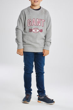 MIKINA GANT D1. FOOTBALL LOG C-NECK SWEAT