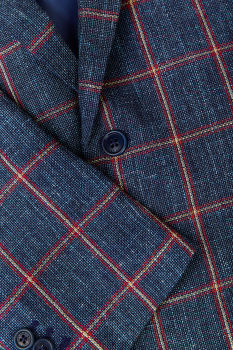 SAKO GANT D1. WINDOWPANE CHECK BLAZER