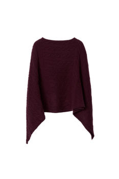 SVETR GANT O3. LAMBSWOOL CABLE PONCHO