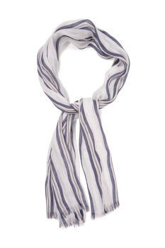 ŠÁLA GANT D2. STRIPED COTTON LINEN SCARF