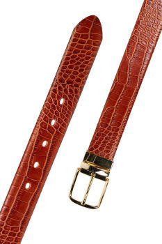 OPASEK GANT D1. CROCO REVERSIBLE BELT