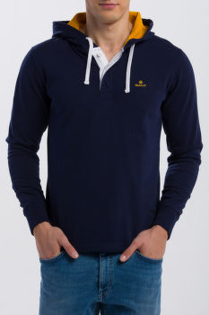 MIKINA GANT O1. SOLID HEAVY RUGGER HOODIE