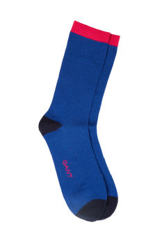 PONOŽKY GANT D1. 1-PACK COLOR BLOCK RIB SOCKS