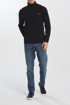 SVETR GANT COTTON CABLE TURTLE NECK