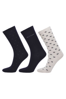 PONOŽKY GANT D1. 3-PACK MIXED SOCKS