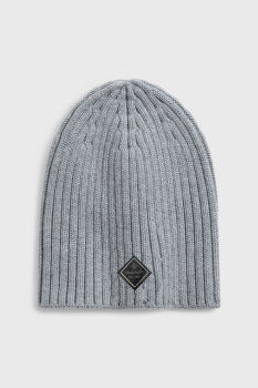 ČEPICE GANT D1. SOLID KNITTED BEANIE