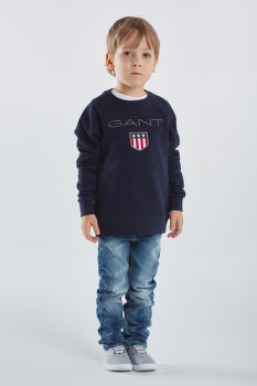 MIKINA GANT KB. GANT SHIELD LOGO C-NECK SWEAT